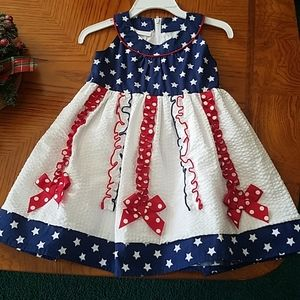 24 month American Flag dress